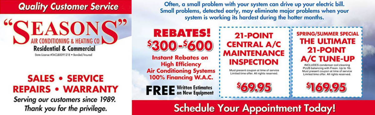 Tomball Spring AC Repair Flyer
